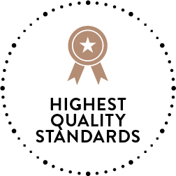 Highest queality standards